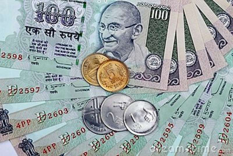 rupia-indiana-da-moeda-19397290